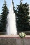 Le bouquet près de la fontaine Photographie stock