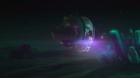 Le bourdon explore rougeoyer en cristal Ciel de nuit illustration libre de droits