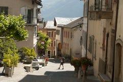 Le bourg de Saillon Fotografia Stock Libera da Diritti