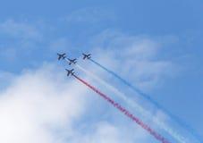 LE BOURGET, FRANCE - June 25, 2017: The Patrouille Acrobatique de France Royalty Free Stock Image