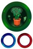 Le bouton avec une centrale illustration de vecteur