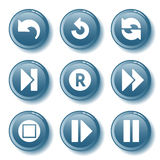 Le bouton bleu a placé 29 Image libre de droits