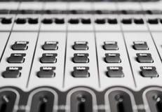 Le bouton commande le détail sur enregistrer le mélangeur audio Photographie stock libre de droits