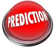 Le bouton 3d rouge de prévision prédisent le destin Destiny Fortune Telling illustration stock