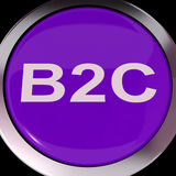 Le bouton de B2c signifie des affaires aux achats ou à la vente du consommateur Images stock