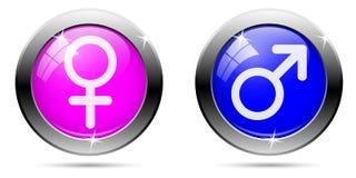 Boutons de genre réglés Images libres de droits