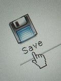 le bouton de sauvegarde photo libre de droits