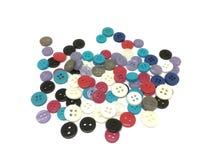 Le bouton est un dispositif pour la couture du tissu illustration libre de droits