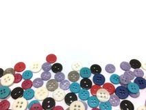 Le bouton est un dispositif pour la couture du tissu illustration stock