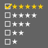 Le bouton jaune emmêlé du Web cinq tient le premier rôle des estimations illustration stock