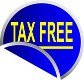 le bouton libèrent l'impôt Images libres de droits
