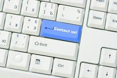 le bouton nous contactent Photo stock