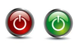 Le bouton a placé pour la conception de Web - vecteur d'ENV Image stock