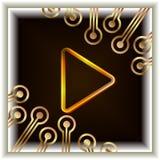 Le bouton visuel image stock