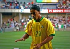 Le Brésil contre l'Algérie Image stock