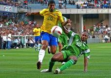 Le Brésil contre l'Algérie Images stock