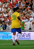 Le Brésil contre l'Algérie Photo libre de droits