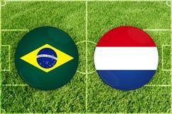 Le Brésil contre le match de football du Paraguay photos libres de droits