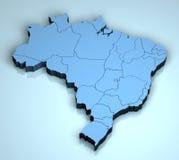 Le Brésil 3D Image stock