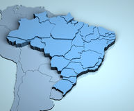 Le Brésil 3D Images stock