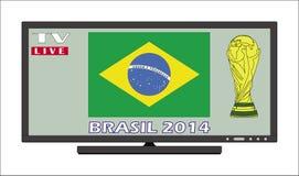 Le Brésil de visionnement public 2014 Image libre de droits