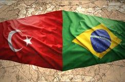 Le Brésil et la Turquie Photo stock
