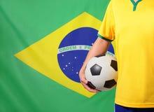 Le Brésil et le football Photos stock