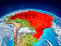 Le Brésil sur terre Photo libre de droits