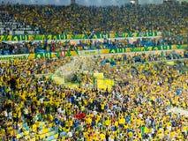 Le Brésil vc Espagne - tasse 2013 des confédérations de la FIFA Photos stock