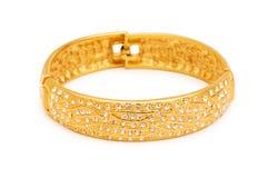 le bracelet a isolé la femme Image stock