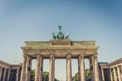 Le Brandenburger Tor Brandenburg Gate en Berlin Germany images stock