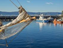 Le Brattor Quay à Trondheim, Norvège Photos libres de droits