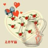 Le breuvage magique d'amour secret Image stock
