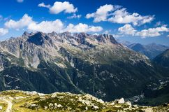 Le Brevent mountain in Chamonix, France Royalty Free Stock Photo