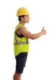 Le bricoleur de travailleur de la construction manie maladroitement vers le haut images libres de droits