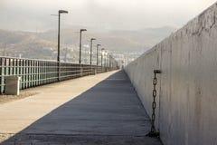 Le brise-lames dans Novorossiysk Images libres de droits