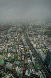 Le brouillard de vue d'horizon de Tokyo opacifie la brume photo libre de droits