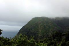 Le brouillard a enveloppé les montagnes de l'île de San Miguel Images libres de droits