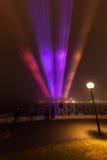 Le brouillard enveloppe Quay circulaire à Sydney. Images stock