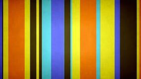 Le bruit multicolore Paperlike de //4k 60fps des rayures 29 colore la boucle visuelle de fond de mouvement de barres de texture banque de vidéos