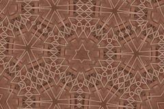 Le brun de fleur avec la ligne comme modèle geomatry sans couture Photographie stock