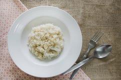 Le brun et le jasmin de mélange ont coulé le riz Photographie stock libre de droits