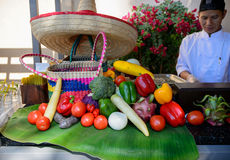 Le brunch de samedi dans le restaurant mexicain Photographie stock libre de droits