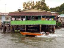 Le Brunei. Bandar du centre. Maison type de Kampung Ayer Image libre de droits