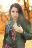 Le brunette de fille Image stock