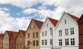 Le Bryggen célèbre à Bergen, Norvège. Photo stock
