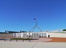 Le bâtiment du parlement à Canberra Photo libre de droits