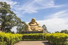 Le buda géant, temple bouddhiste, Foz font Iguacu, Brésil Image libre de droits