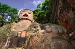 Le buddah géant de la province de sichuan leshan Images libres de droits