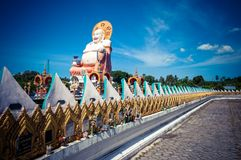 Le Buddha staty i Koh Samui, Thailand Arkivfoto